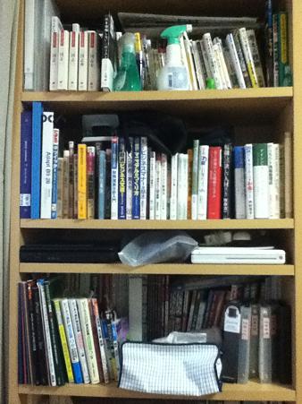 20110626整理整頓前の本棚