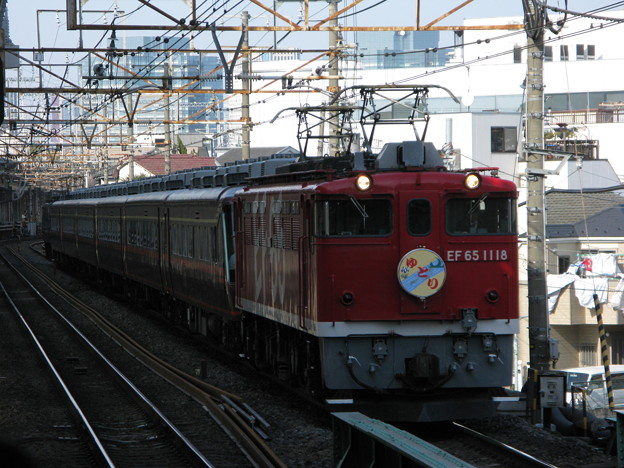 EF65-1118+14系客車ゆとり+EF65-1100