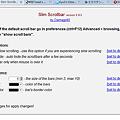 写真: Operaエクステンション:Slim ScrollBar(設定、拡大)