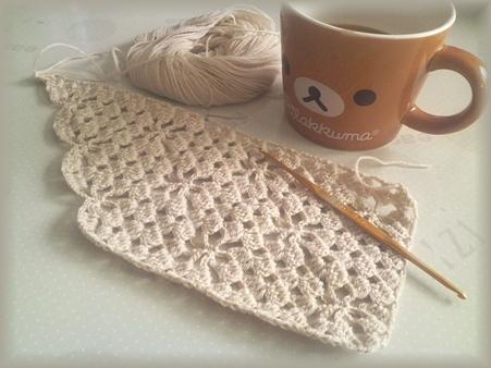 スマニアンメリノのマフラー編み始め