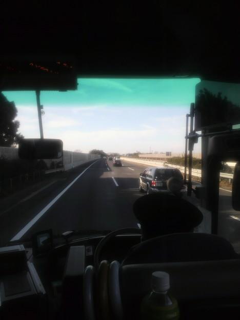 Photos: 高速バスなう。新常磐交通 いわき200か  90 富士山見えた