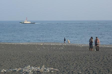 穏やかな海…