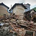 暴風雨で家が村が壊れちゃったby浙江省の農村 (4)
