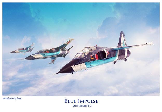 """アビエーションアート""""三菱T-2 ブルーインパルス"""""""