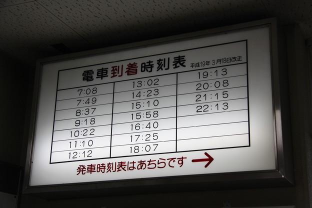 Photos: 十和田観光電鉄 十和田市駅 時刻表