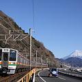 東海道本線 由比-興津 211系普通列車
