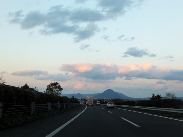 夕焼けと讃岐富士