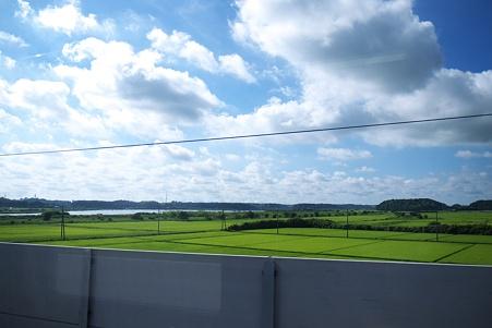 新線からの印旛沼