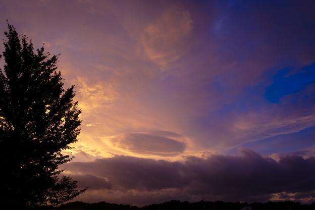 嵐の去った夕方