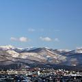 冬晴れの里山