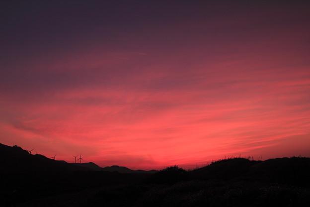 ユウスゲの丘の朝焼け(^^)