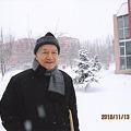 雪景色の中で