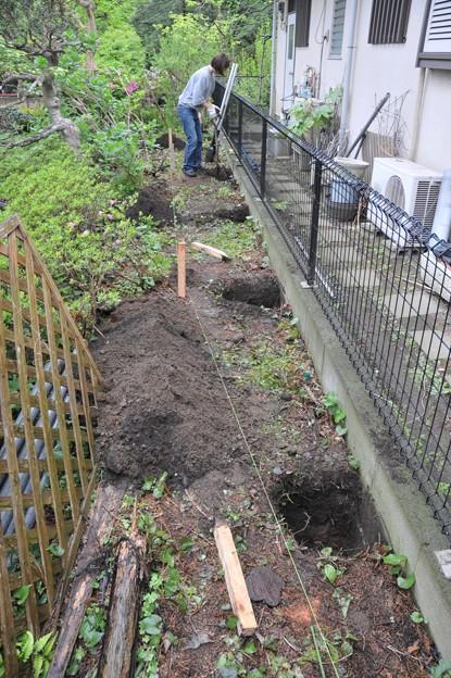 基礎の穴掘り