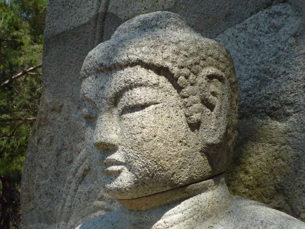 Photos: 如来坐像頭部~韓国慶州 Seated  Buddha head