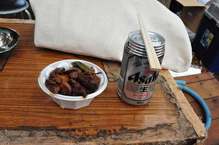 甲府鳥もつ煮+ビール