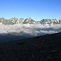 写真: 100722-54蝶ヶ岳登山・穂高連峰と槍ヶ岳