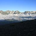 Photos: 100722-54蝶ヶ岳登山・穂高連峰と槍ヶ岳