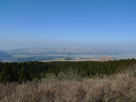 米塚の秋(6)草千里展望所から