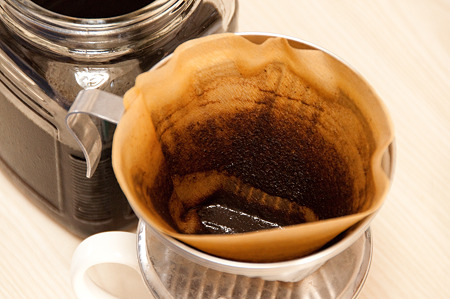 こんだけのコーヒー粉が取れました