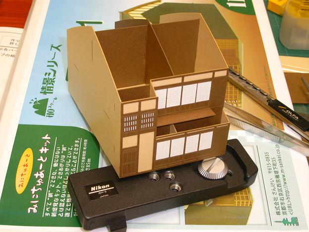Photos: 建物紙模型