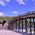 青空もいいけどこの橋もいい・・岩国錦帯橋